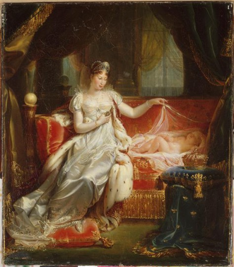 5 Joseph Franque L'impératrice Marie-Louise veillant sur le sommeil du roi de Rome