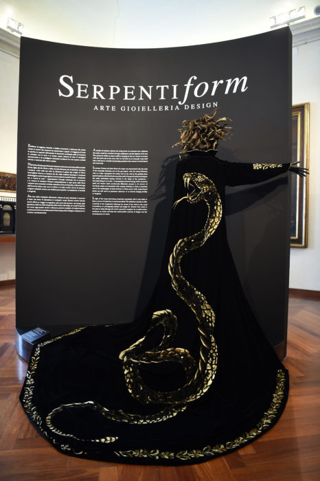 attends the Press Conference for BVLGARI Serpenti Form Exhibition at Palazzo Braschi on March 9, 2016 in Rome, Italy.