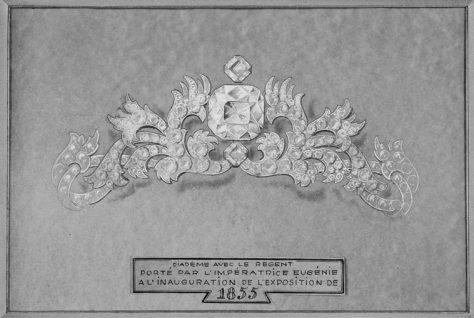 projet-pour-le-diademe-porte-par-limperatrice-eugenie-a-linauguration-de-lexposition-de-1855-photo-rmn-gp-michelele-bellot